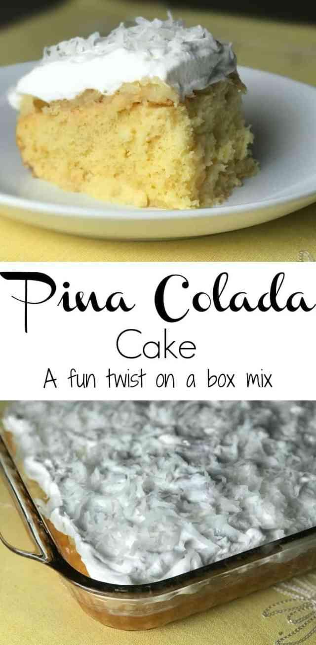 pina colada cake mix