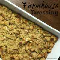 classic farmhouse dressing in baking dish