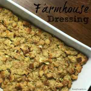 classic farmhouse dressing in baking dish