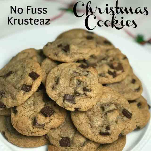 no fuss chocolate chip cookies
