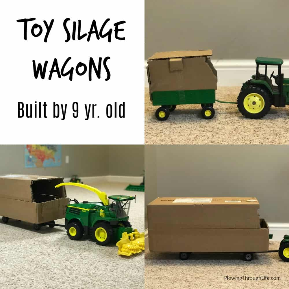 toy silage wagon