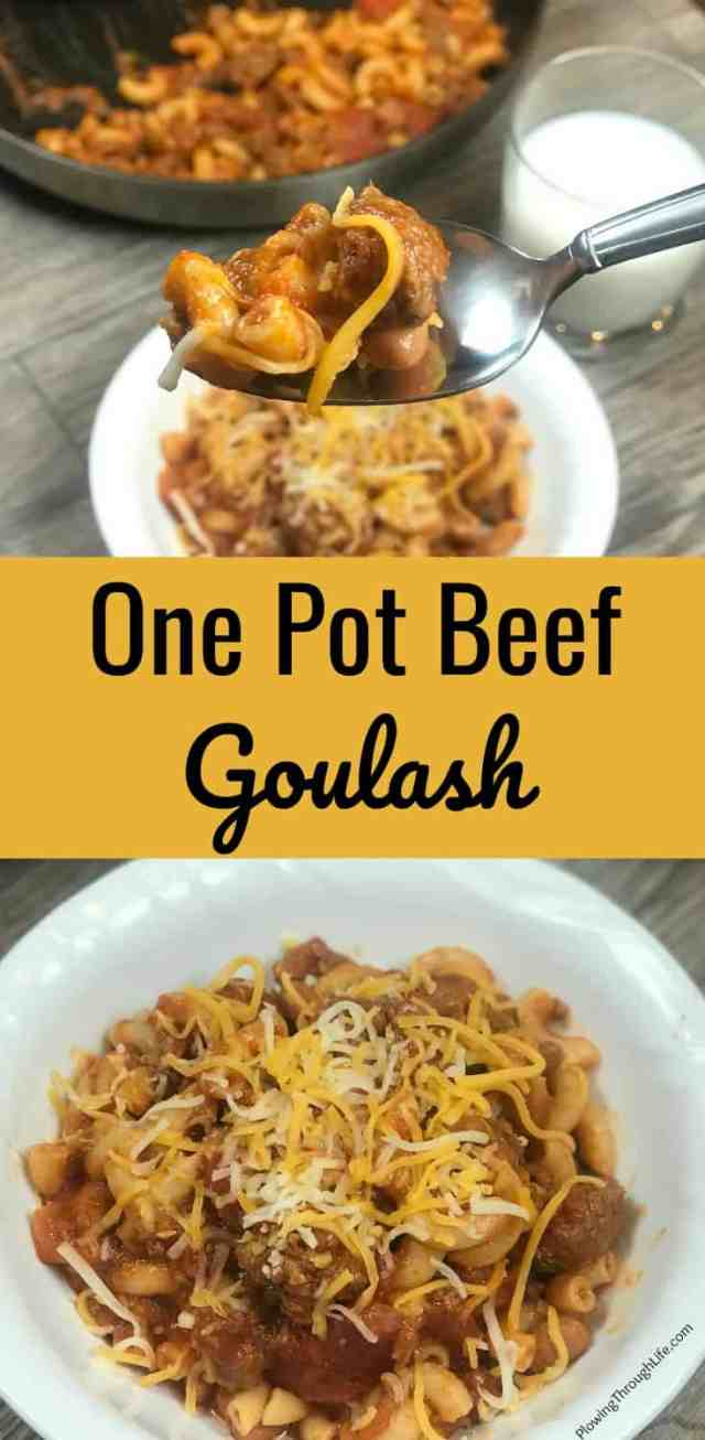 one pot beef goulash