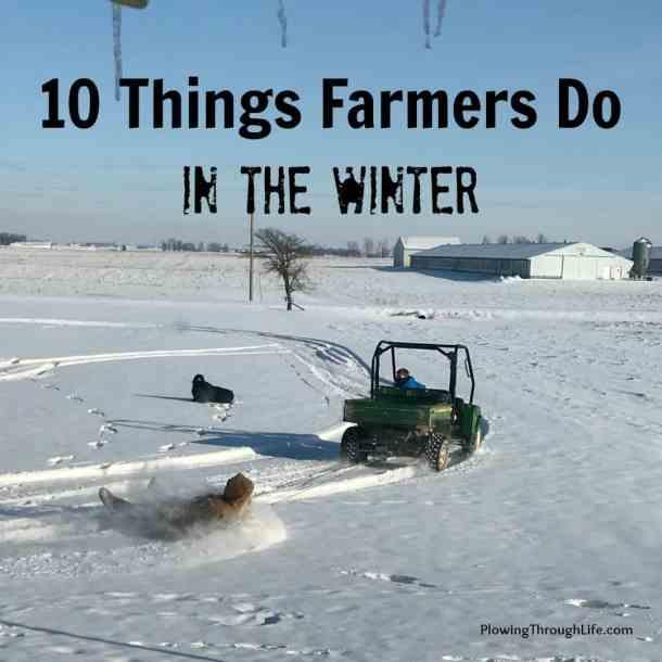 farmer in the winter