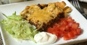 easy taco pie recipe idea