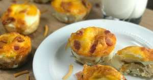 hashbrown, eggs, cheese and bacon brunch cups