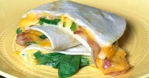 bacon and cheese quesadilla feature