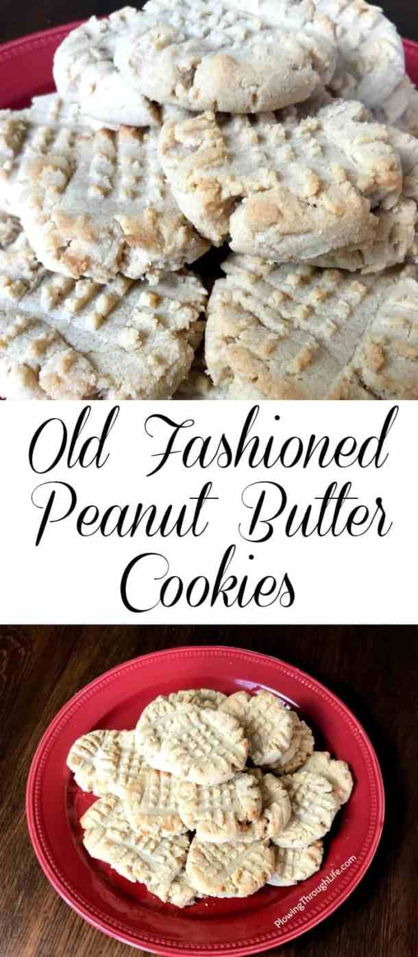 These old fashioned peanut butter cookies are a class easy cookie recipe. This is a great small batch cookie recipe which we love. A cold glass of milk is the perfect compliment to this recipe!