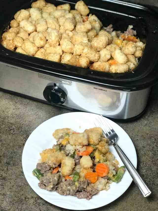 easy hamburger casserole in slow cooker