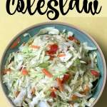 This easy coleslaw recipe can be made in fifteen minutes.