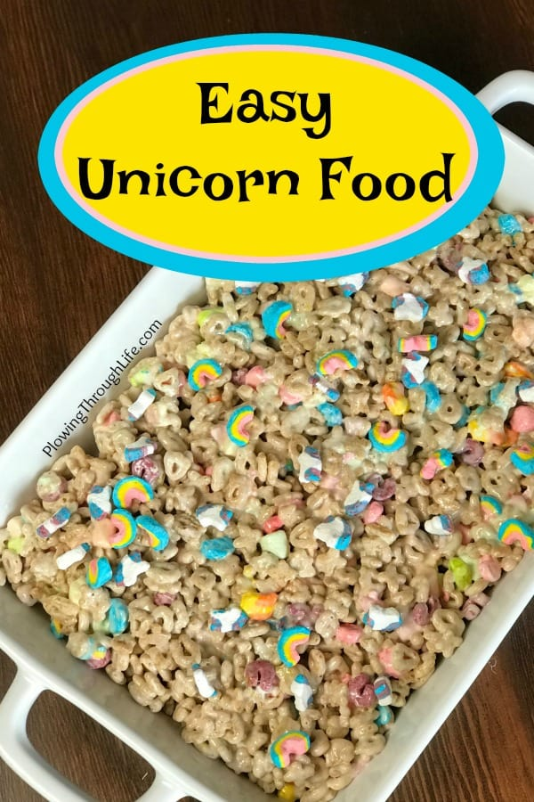 This is a fun food idea for a unicorn party! This easy unicorn food idea is sure to be a hit with kids and fun adults!