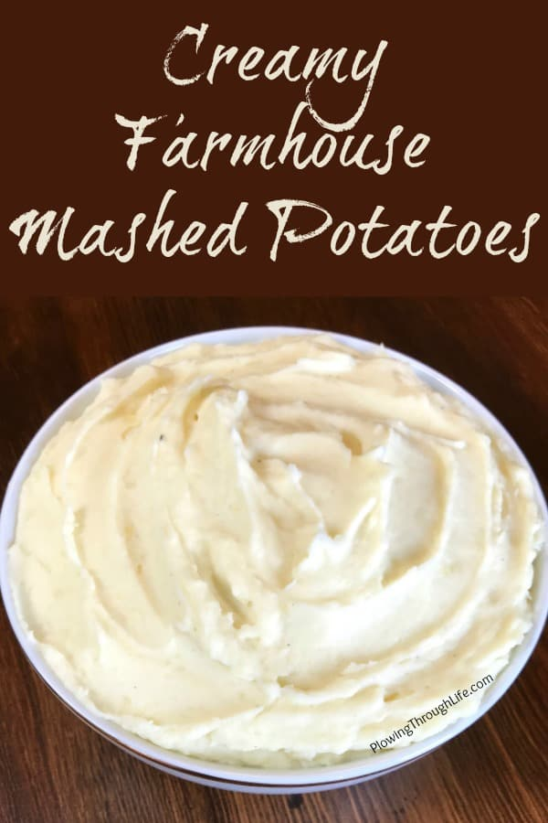 bowl of rich and creamy mashed potatoes