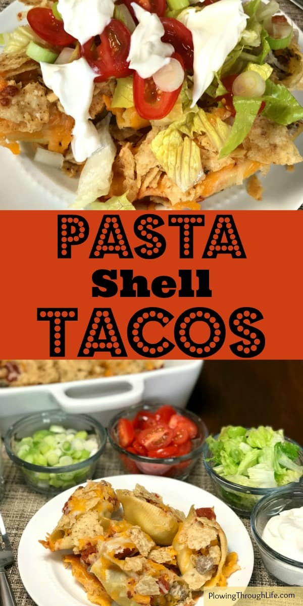 When life is busy we all need some easy meals like these Pasta Shell Tacos!  Pasta tacos are a fun twist on traditional tacos.