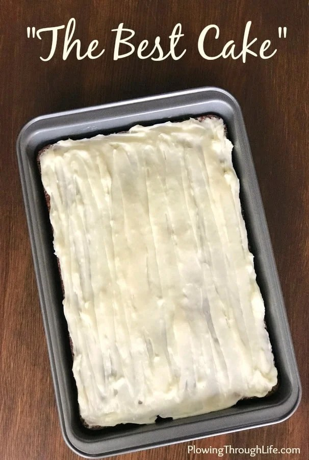 "Are you looking for an old-fashioned homemade cake recipe with delicious cream cheese icing?  Well, I found the perfect handwritten card to share.  It literally is entitled ""The Best Cake"" Recipe."