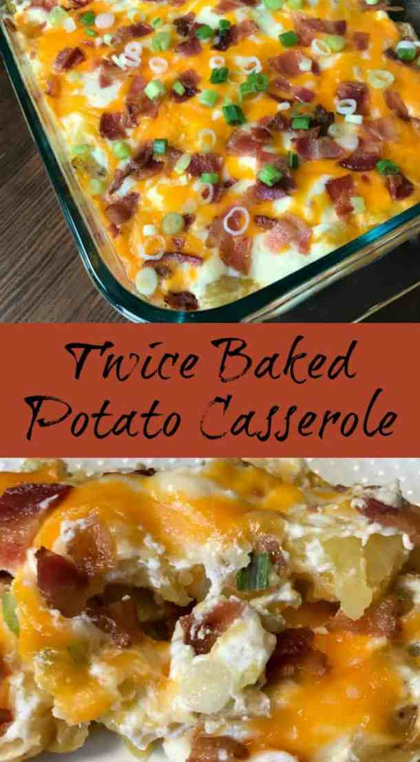 Do you love twice baked potatoes, but need an easier way to make them?  This Twice Baked Potato Casserole is packed with delicious flavors and can be made much more quickly than traditional twice baked potatoes.  This casserole is a family favorite!