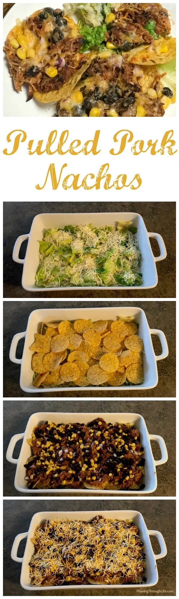 Do you need an easy family meal that can be made in 15 minutes? This easy pulled pork nacho casserole style dish tastes great, includes a variety of food groups and is very easy to put together. Even my picky eater ate this meal!