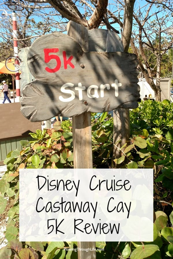 Castaway Cay 5K Start Line and Castaway Cay 5K Review