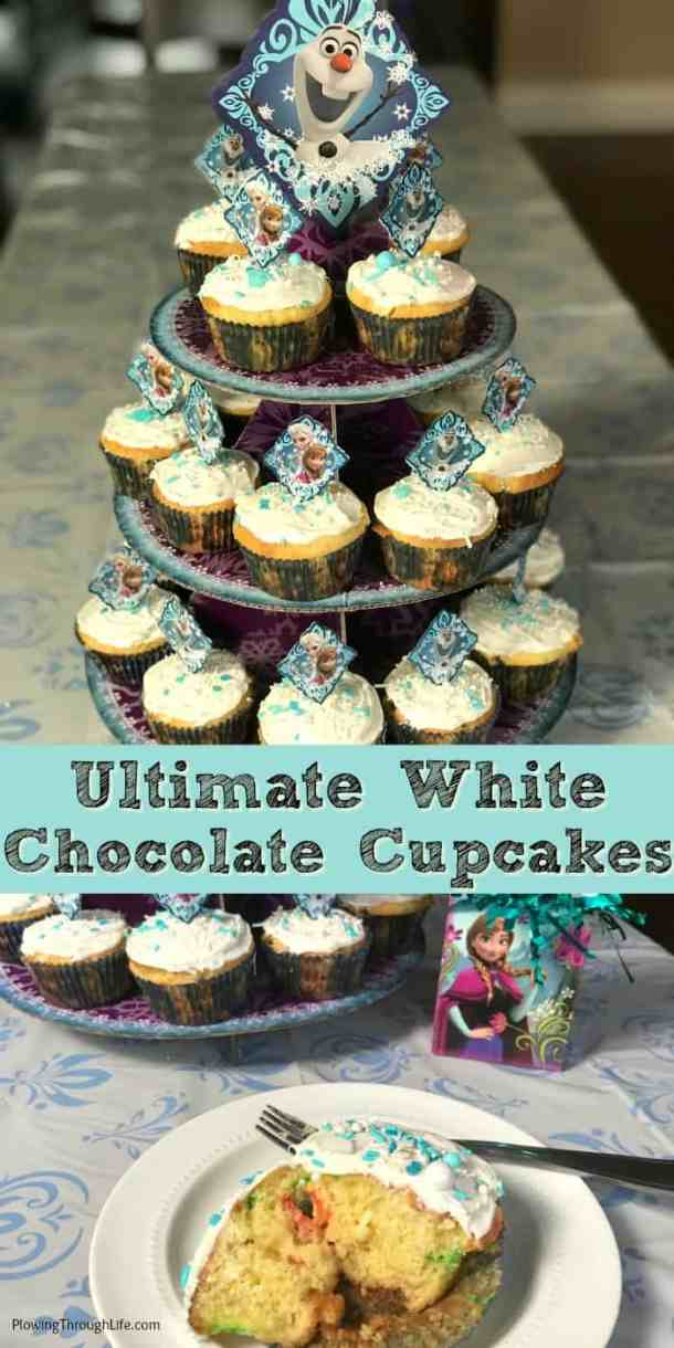 We've already made the Ultimate White Chocolate FROZEN Cupcakes to celebrate that FROZEN on Ice is coming to Columbus, Ohio! These are bakery qualitycupcakes made from a box mix. Easy FROZEN party cupcakesare super moist and delicious!