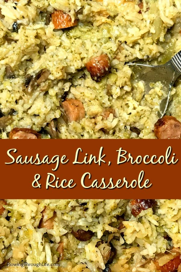 Do you need an easy recipe for sausage links?  This Sausage Link, Broccoli and Rice Crock Pot Casserole is a hearty rice casserole that is great for a potluck side dish or a quick meal at home.