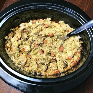 Do you need an easy recipe for sausage links? This Sausage Link, Broccoli and Rice Crock Pot Casserole is a hearty rice casserole that is great for apotluck side dish or a quick meal at home.