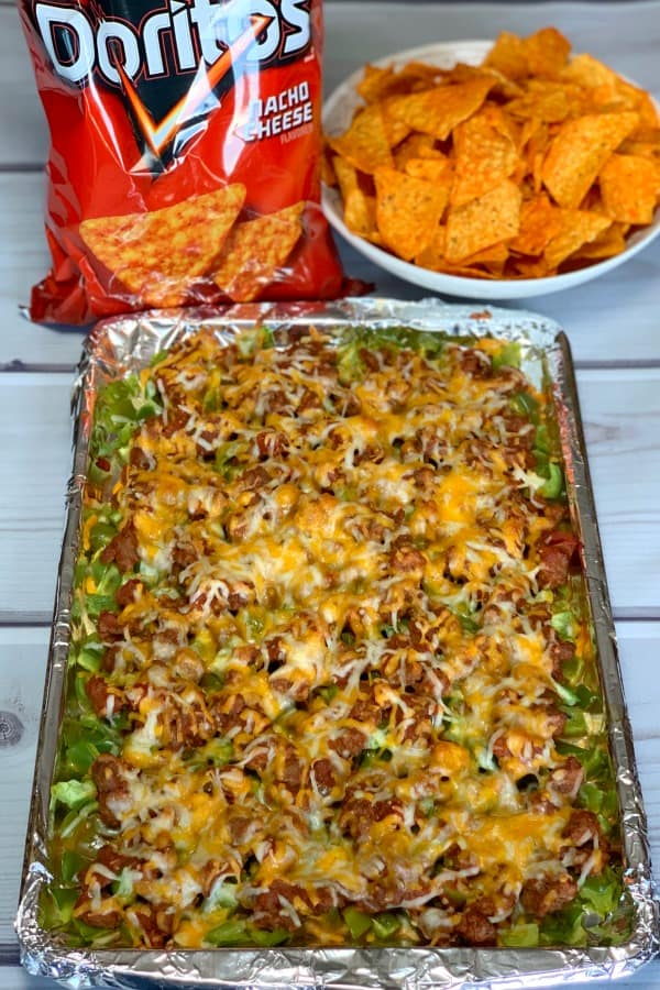 Bell Pepper Taco Dip with Ground Beef is a hearty snack that can be made into a casserole for a main dish.  This dip is easy to add heat or keep mild by the type of salsa you choose.  It can be made sweeter by using different colors of bell peppers.