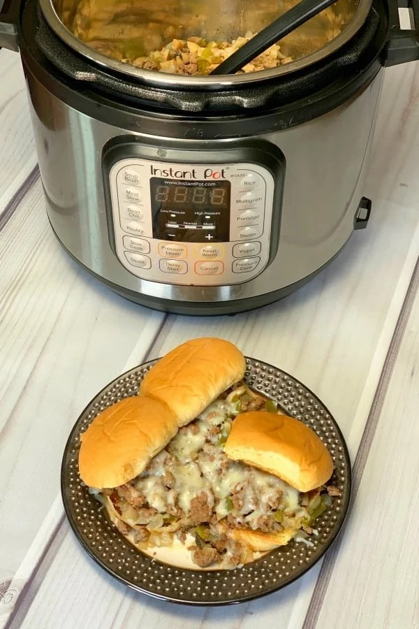 Philly cheese steak sloppy joe sandwiches by Instant Pot