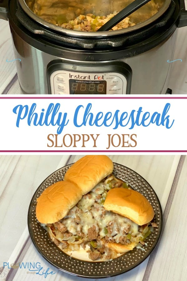 Philly Cheesesteak Sloppy Joes made in the instant pot is an easy ground beef recipe