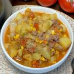vegetable beef soup with cabbage