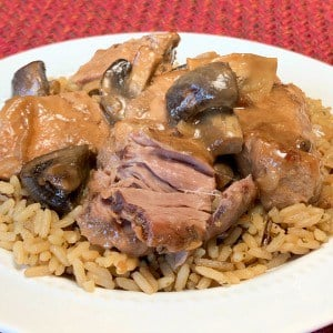 fresh mushrooms in wine sauce, so this Slow Cooker Country Style Ribs with Mushroom Gravy is a real winner in our house!  These ribs are super tender and easy to make