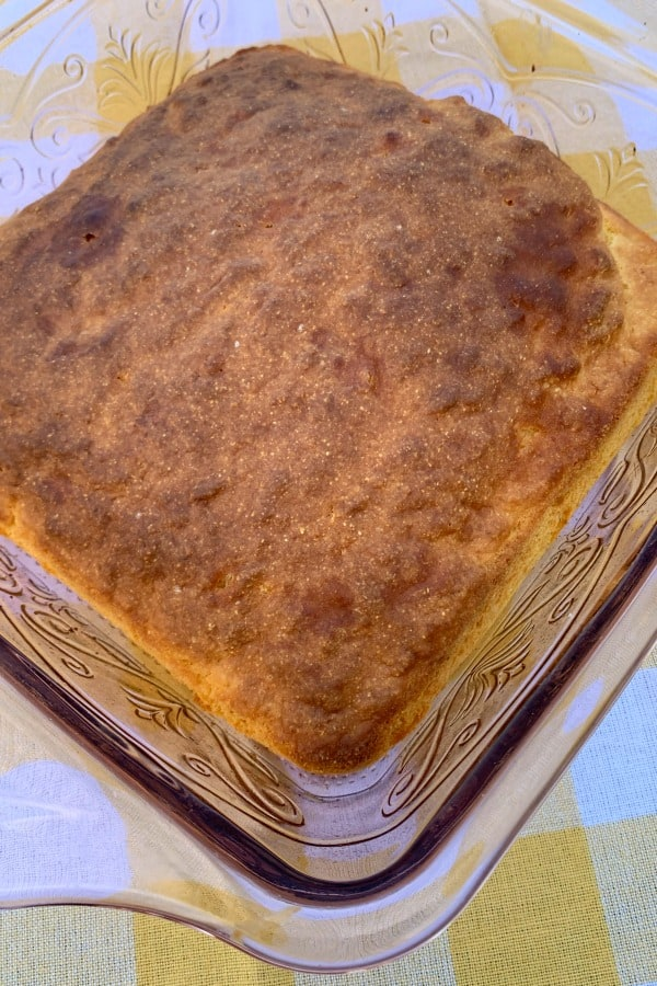 8x8 pan of baked cornbread