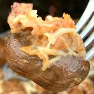 Slow cooker stuffed mushroom