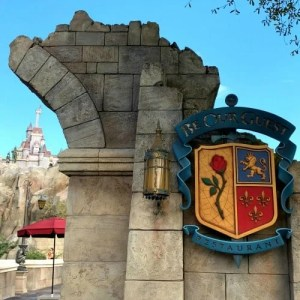 Entrance to Be Our Guest Restaurant area in Fantasyland of Magic Kingdom in Walt Disney World