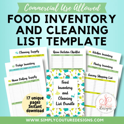 Food-Inventory-and-Cleaning-List-Template