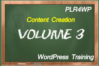 plr4wp Volume 3 WordPress Content Creation