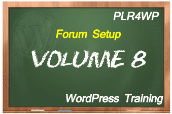 plr4wp Volume 8 WordPress Forum Set Up