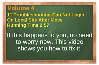 plr4wp Vol 4 Video 11 Troubleshooting-Can Not Login On Local After Move