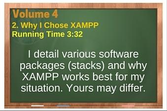 plr4wp Vol 4 Video 2 Why I Chose XAMPP