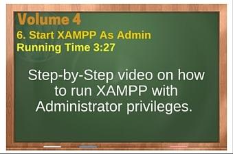 plr4wp Vol 4 Video 6 Start XAMPP As Admin