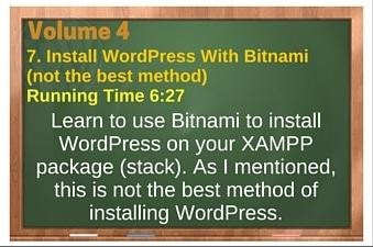 plr4wp Vol 4 Video 7 Install WordPress With Bitnami (not the best method)