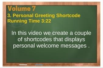 PLR 4 WordPress Vol 7 Video 3 Personal Greeting Shortcode