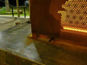 Lightbox - Church Street Bridge, Cremorne (Punched Corten)