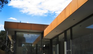 Corten Cladding (Beach House, Point Lonsdale)