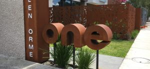 3D Mailbox and 'Road Maps' Fencing (Corten)