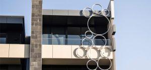 'Bubbles' Facade Sculpture - Bay Steet, Sandringham (Stainless Steel)