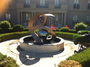 Custom-Designed Monogram Fountain Sculpture