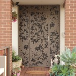 'Olinda Leaves' Decorative Security Door with Mesh