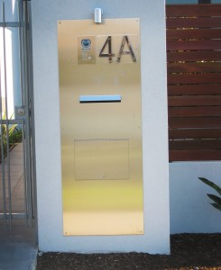 Entry Panel and Mailbox with Numbers Sitting Proud