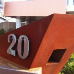 Wedge Mailbox with Copper Numbers