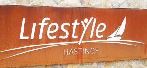 Retirement Community Laser Cut Signage over Perspex, Hastings