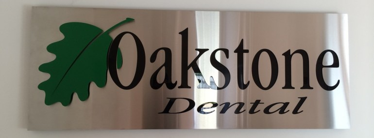 Dental Practice Signage with Enamel Inlay, Oakleigh