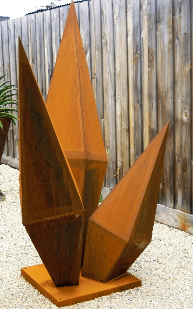 Corten steel sculpture by PLR Design